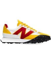 New Balance Кроссовки Из Кожи И Замши - Желтый