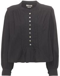 Étoile Isabel Marant Okina Summer ポプリンシャツ - ブラック
