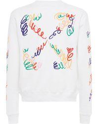 Off-White c/o Virgil Abloh Lvr Exclusive Arrow Cotton Sweatshirt - Белый
