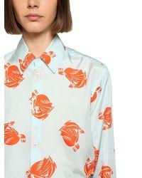 Lanvin - シルクサテンシャツ - Lyst
