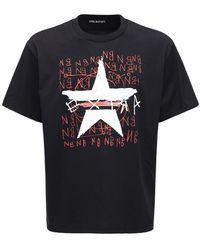 Neil Barrett Star Print Cotton Jersey T-shirt - Black