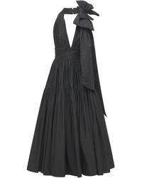 Elie Saab タフタドレス - ブラック