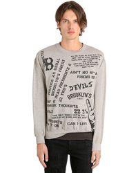 """MadeWorn Sweatshirt Aus Baumwolle Mit Druck """"22 2's Jay Z"""" - Grau"""