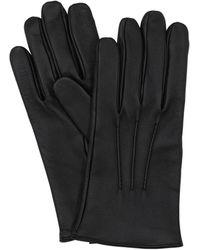 Mario Portolano Кожаные Перчатки Из Кожи Наппа - Черный