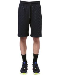 Marcelo Burlon All Over County Print Jersey Shorts - Black