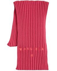 MM6 by Maison Martin Margiela Écharpe En Maille De Laine Nervurée Et Coton - Rose