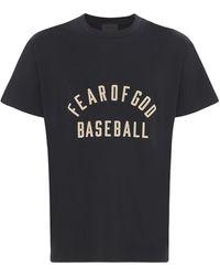 Fear Of God Baseball コットンジャージーtシャツ - ブラック