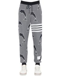 Thom Browne Dolphin Jacquard Jersey Sweatpants - Multicolor