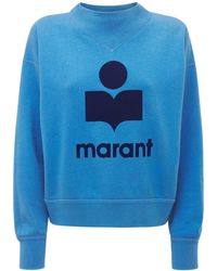 "Étoile Isabel Marant Sweatshirt Aus Jersey ""moby Mock"" - Blau"