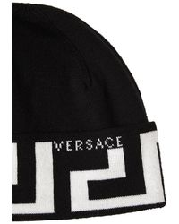 Versace Шапка Из Шерсти - Черный
