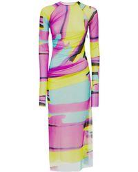 MSGM ストレッチジャージードレス - マルチカラー