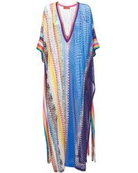 Missoni ビスコースニットカバーアップドレス - ブルー