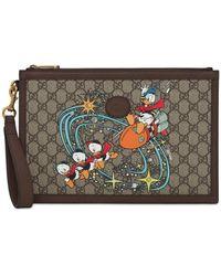 Gucci Клатч Из Канваса Disney X - Коричневый
