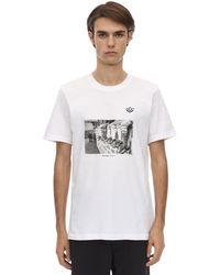adidas Originals T-shirt Aus Baumwolljersey Mit Druck - Weiß