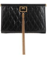 Givenchy Pochette Grande In Pelle Trapuntata - Nero