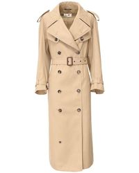 Maison Margiela Belted Trench Coat - Natural