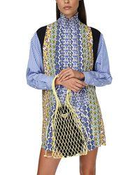 Prada Tasche Aus Leder Und Strick - Mehrfarbig
