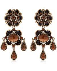 Etro - Clip On Flower Earrings - Lyst