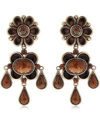 Etro - Flower Earrings - Lyst