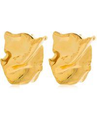 MISHO Flow Stud Earrings - Metallic