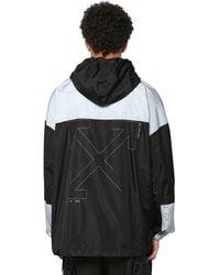 Off-White c/o Virgil Abloh Packable Colour-block Windbreaker Jacket - Black