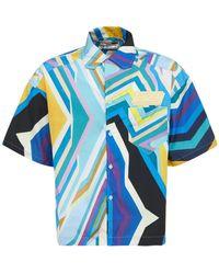 "Formy Studio Techno-hemd Mit Logo ""oceano"" - Blau"