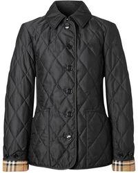 Burberry Куртка Из Нейлона - Черный