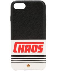 Chaos Reflective Leather Iphone 7/8 Cover - Black