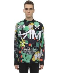 P.a.m. Perks And Mini As Particles Fall Sublimation Ls T-shirt - Green