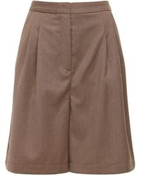 Designers Remix Salerno Wool Blend Shorts - Brown