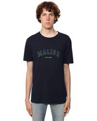 Saint Laurent Футболка Malibu С Логотипом - Синий