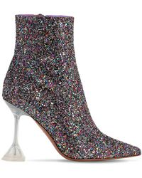AMINA MUADDI 100mm Giorgia Glittered Boots - Multicolour