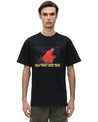 Nike Camiseta De Algodón Jersey Con Estampado - Negro