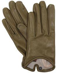 Mario Portolano Leather Gloves - Green
