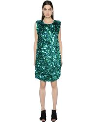 Gianluca Capannolo Sequined Crepe Dress - グリーン