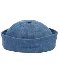 Beton Cire Handmade Cotton Denim Sailor Hat - Blue