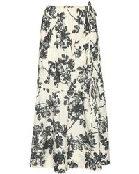 Brock Collection - Floral コットンポプリンスカート - Lyst
