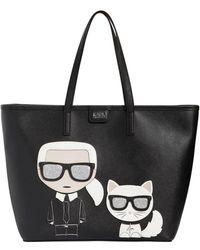 Karl Lagerfeld - K/ikonik Faux Leather Tote Bag - Lyst