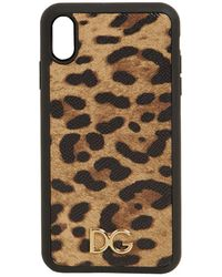 "Dolce & Gabbana - Кожаный Чехол Для Телефона ""iphone X Max"" - Lyst"
