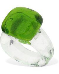 Maryam Nassir Zadeh Quadratischer Glasring - Grün