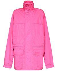Balenciaga リップストップテックパーカージャケット - ピンク