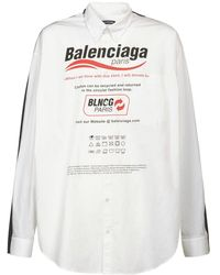 Balenciaga Рубашка Из Хлопка - Белый