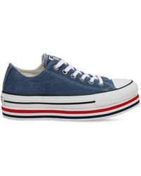 Converse Chuck Taylor All Star Platform Trainers - Blue