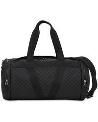 Bottega Veneta V Logo Leather Duffle Bag - Black