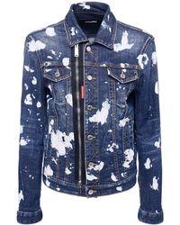 DSquared² Wash Pattern ストレッチコットンデニムジャケット - ブルー