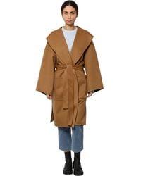 Loewe Пальто Из Шерсти И Кашемира - Коричневый
