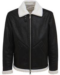 Armani Exchange エコシアリングボンバージャケット - ブラック