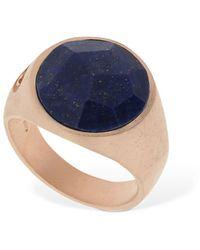 Marco Dal Maso Lapis Lazzuli Stone Thick Pinky Ring - Blau