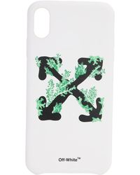 Off-White c/o Virgil Abloh Iphone Xs Max-cover Mit Druck - Weiß