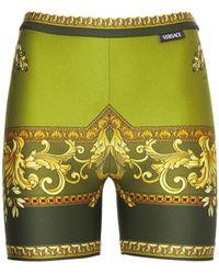 Versace Shorts Mit Baroquedruck - Grün
